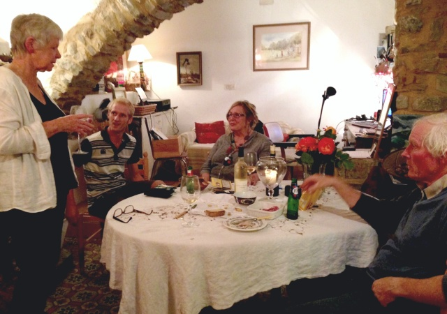 At home in Coustouge: Janet, Louie, Kath, Dave