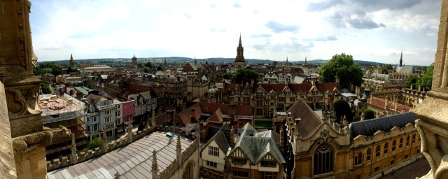 View of Oxford from the tower of The university  Church of St Mary's The Virgin