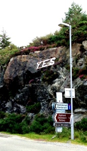 "The ""Yes"" proclamation from a Highland village where a rear guard action was fought by community action to reclaim lands lost during the ""Clearances"""