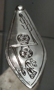 Silver plaque from the Norrie's Law hoard, Fife, with double disc and Z-rod symbol - Wikipaedia