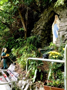 "Scene for wishing or praying at ""modern"" Catholic Holy Well. County Sligo"
