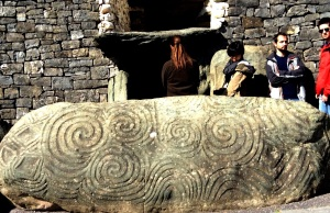 Entrance stone to Newgrange Tomb