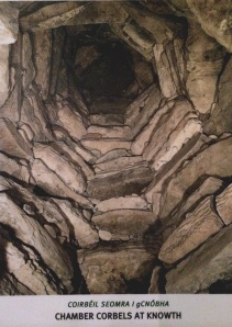 Typical passage tomb ceiling