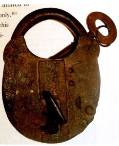 Old Kilmainham cell lock such as those all removed by the women detained during the Civil War