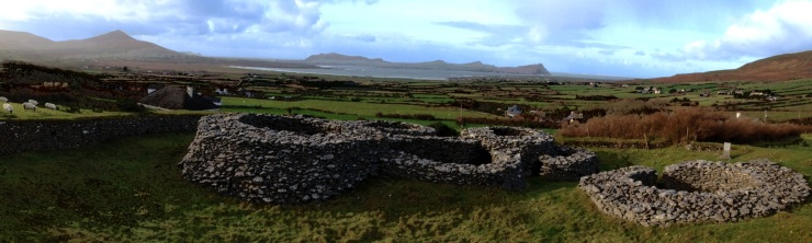 """Looking out to Smerwick Harbour from the """"beehive"""" ruins up the road"""