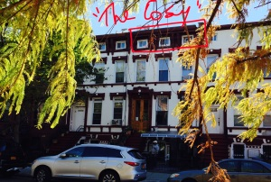 Our October '14 digs on Greene Avenue, Bedford-Stuyvescent, Brooklyn