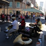 Buskers rule the road
