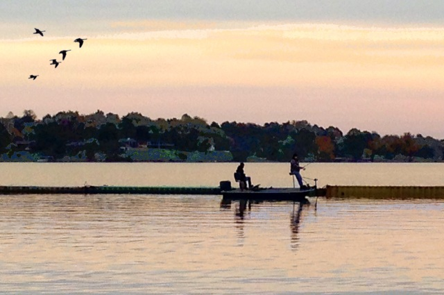 Awake with the daily sunrisers on  Old Hickory