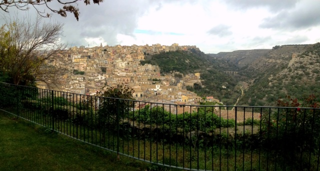 Breakfast with Ragusa  - view from the garden