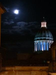Full moon over Duomo San Georgio, Ragusa Ibla