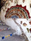 Tiled mosaic, private entrance