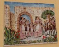 Wall tile mosaic, street art